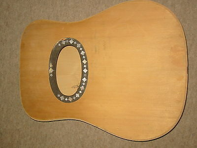 Old guitar body , probably Hofner, German Made in the 1960s, NOS, BIG soundhole