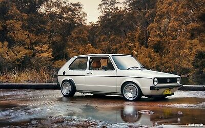 Volkswagen Golf MK1 GTI Classic Car Large Wall Art Poster Print / Canvas Picture