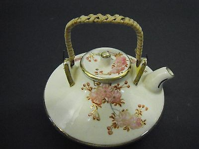 Antique Japanese Satsuma Mini Teapot Signed RPC, Kyoto