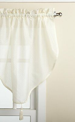 "Lorraine Home Fashions Reverie 40 x 25"" inch Ascot Valance, Eggshell"