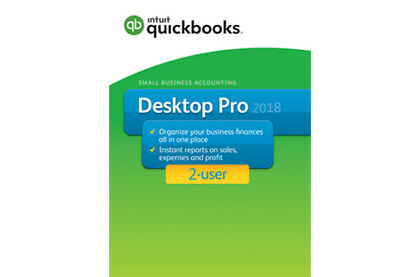 2 user QuickBooks Pro 2018 [PC DOWNLOAD] - 100% genuine - read our reviews!