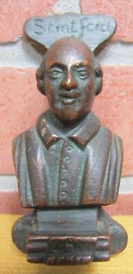 Old Stratford William Shakespeare Bust Bronze Brass Small Interior Door Knocker