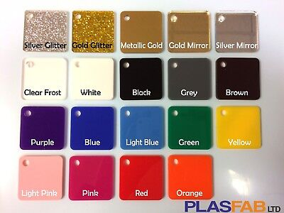 Colour acrylic perspex sheet plastic material 3mm glitter gold rose mirror