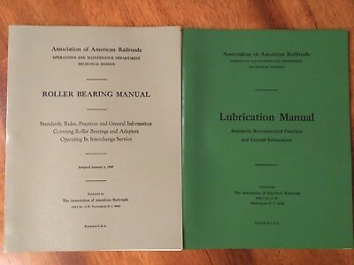 Association of American Railroads Roller Bearing and Lubrication Manuals