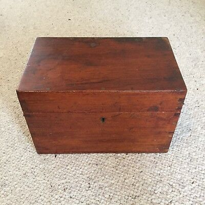 Antique Wooden Box Medicine Mahogany Burroughs Wellcome Apothecary Wood