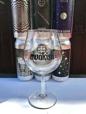 New MONKISH Brewing Amigas Balloon Glass Double Sided 2018 Limited Cup