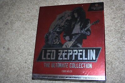"""Rare Led Zeppelin """"the Ultimate Collection"""" Chris Welch Hardcover Book Box Set!"""