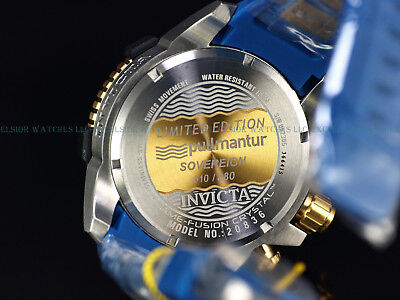 New Invicta Reserve Pullmantur Sovereign Ltd.Ed. Arsenal Swiss Chrono Poly Watch