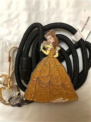 RARE Disney Cast Member Exclusive Belle Beauty & the Beast Bolo ID Lanyard
