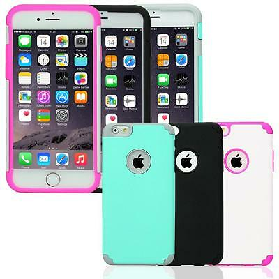 """Rugged Silicone Rubber Shockproof Back Case Cover For iPhone 6 6s 4.7"""" Plus 5.5"""""""