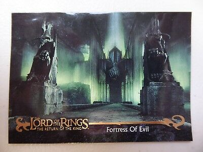 TOPPS Card : LOTR The Return Of The King  #46 FORTRESS OF EVIL