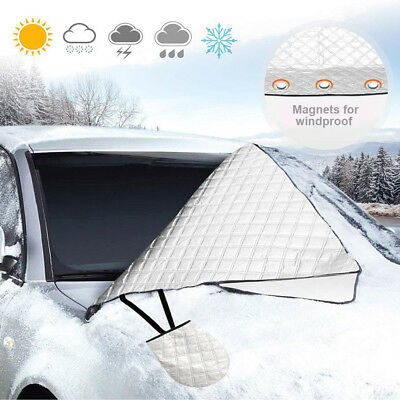 Magnetic Car Windscreen Windshield Frost Ice Snow Cover Mirror Protector 4 Layer