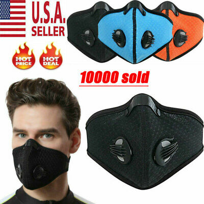 Half Face Respirator Mask Dust Proof Filtered Activated Carbon Filtration US