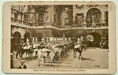 Postcard:real Photo Image.very Early Sepia Card.changing Of The Guard.