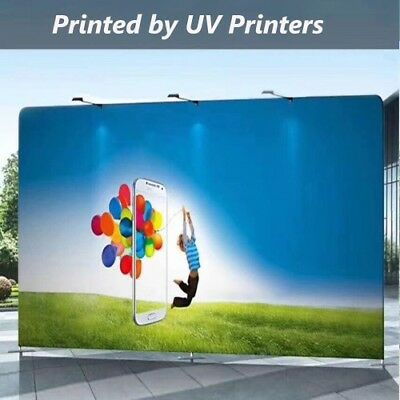 """Tension Fabric Printed by Dye Sub UV Latex For trade Show Backdrop 63"""" X 165'"""
