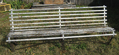Antique Wrought Iron Train Station Depot 6.5 Foot Heavy Garden Park Bench