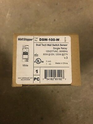 Watt Stopper DSW-100-W Wall Switch Sensor