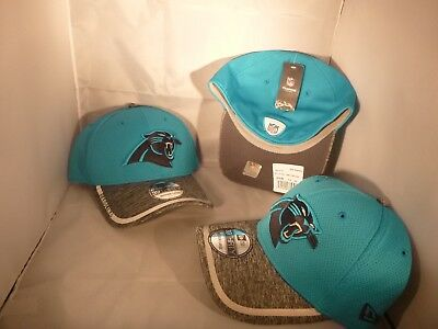 8137219fb Carolina Panthers Blue Grey Nfl Training Camp Med Large New Era Tech Fitted  Hat