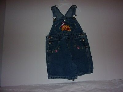 Winnie The Pooh: Girls 5T Blue Jean Overalls,
