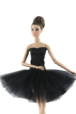 Black Fashion Handmade Ballet Dress/Clothes/Outfit For 11 in. Doll P02