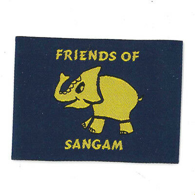 """Girl Guide Scout Brownie BADGE PATCH – new! ~ Friends of Sangam 2"""" rare"""