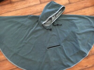 Wic-Tec Hooded Cape •bluish-Green •one Size Fits Most •never Worn! •poncho•xlnt!