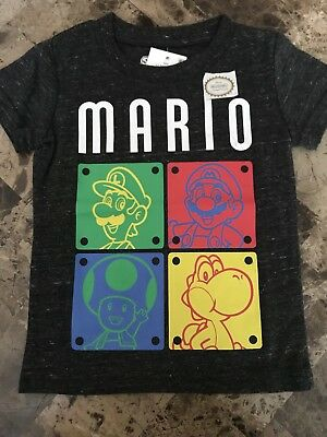 NWT, Baby/Toddler Boys, Super Mario Brothers Black Tee Shirt