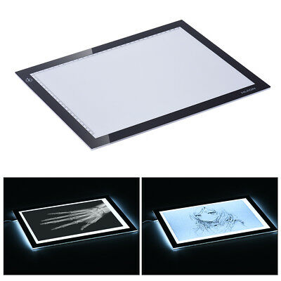 HUION Ultra-thin A4 USB LED Light Drawing Stencil Board Tracing Pad Table E4D6