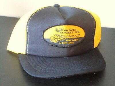 Trucker Hat Cap EjC Oilfield Services Hat Dapp, Alberta Petroleum Oil Industry