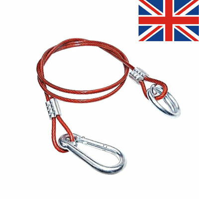 Red PVC Break Away Clip Cable Hook  Ring Trailer Safety Towing Brake Horse