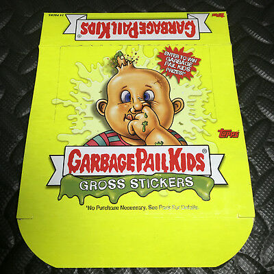 GARBAGE PAIL KIDS ALL-NEW SERIES 1 ANS1 2003 EMPTY BOX (gold foil style)