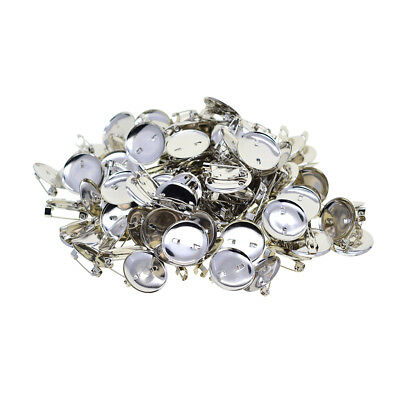 23x23mm Personalize Brooch Base Pin-Back Button Parts Blank Lapel Pin 100Pcs
