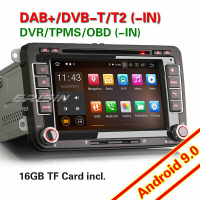 "7""Android 8.1 Car stereo Sat Nav DAB+For PASSAT GOLF JETTA CADDY TOURAN EOS SEAT"
