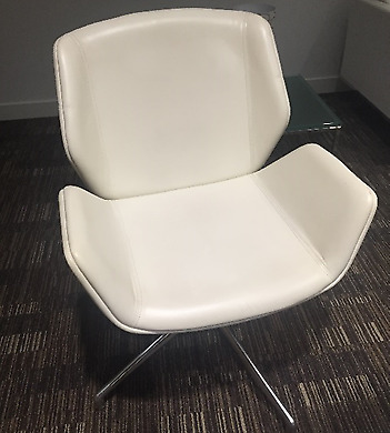 Boss Design Kruze Chairs, Full White Leather - 14 Available