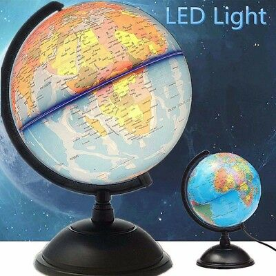 32CM LED World Map Globe Desk Lamp LED Night Light For Home Bedroom Office UK