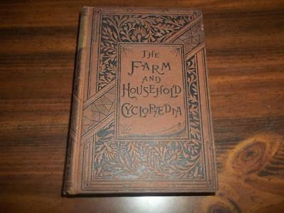 1885 The Farm And Household Cyclopaedia, Antique Cookbook, Farming, Beekeeping