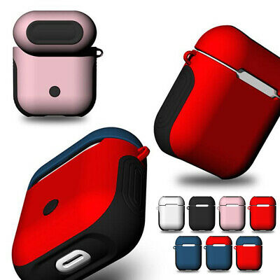 Custodia per Apple cuffie airpods Soft Silicone + Difficile PC copertura Cover
