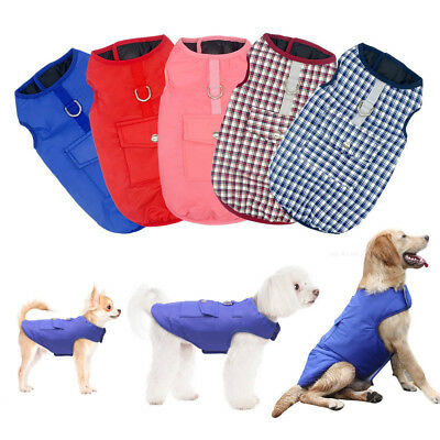 Winter Warm Dog Clothes Padded Waterproof Coat Pet Vest Jacket for Dogs 7 Sizes