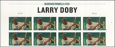 US 4695a MLB Larry Doby imperf NDC header block 8 MNH 2012
