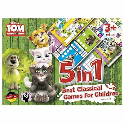 Talking Tom 5 In 1 Classic Board Games For Children Ludo Pachisi Snakes Ladders