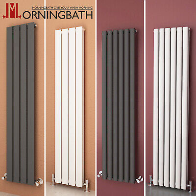 Vertical Designer Radiator Bathroom Flat Panel Oval Column Tall Upright Rads