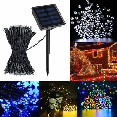 100 200 LED Solar Power String Fairy Light Garden Christmas Outdoor Party Decor