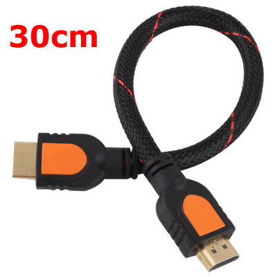 30cm 4K HDMI Cable V2.0 3D High Speed & Ethernet HEC Full HD TV 1080P PS3 XBOX M