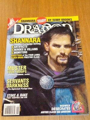 Dragon #286 August 2001 Shannara By Terry Brooks Us Magazine =