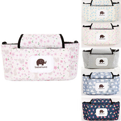 Baby Trolley Pushchair Storage Bag Case Prom Buggy Accessories Mummy Gate Check