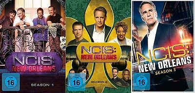 18 DVDs * NAVY CIS / NCIS NEW ORLEANS - SEASON/STAFFEL 1+2+3 IM SET # NEU OVP +
