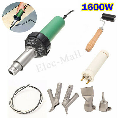 220V 1600W Hot Air Torch Plastic Welding Gun Heat Welder Pistol + Rollder Nozzle