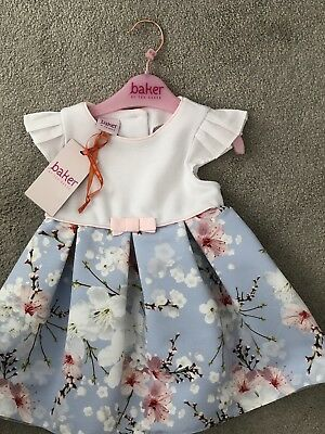 92c6a0a8388763 TED BAKER BABY Girls Blue Blossom Dress. Age 6-9 Months 🌸 - £17.00 ...
