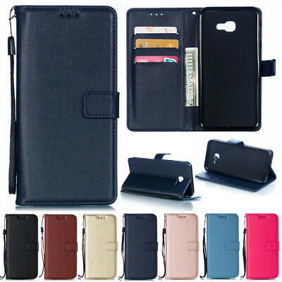 For Samsung Galaxy J4 J6 Plus 2018 Premium Leather Flip Wallet Phone Case Cover