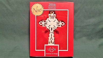 "Lenox ""2016 Snow Fantasies Cross"" Ornament -- New In Box"